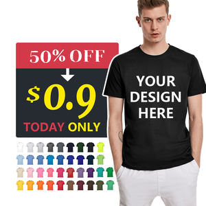 Wholesale Custom 100% Cotton Printing Men Printed Plain White And Black T Shirt