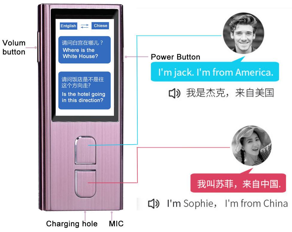 Entreprise chinoise Mobile traducteur parlant voix traducteur avec contenu texte pour les voyages d'affaires et la traduction