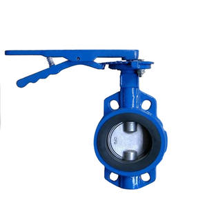 Worm gear wafer butterfly valve DN50 good price butterfly valve Spheroidal Graphite Cast Iron Manual