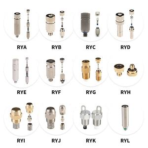 Stainless steel tip nickel plated brass air water small spray nozzle