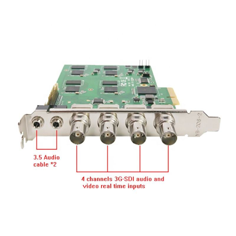 Top quality 4 channel 4*SDI Pci-e 1080P@60fps DVR capture card for live broadcast