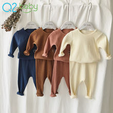 comfortable baby clothing sets cotton pit home service suit baby two piece set clothing kid clothes layette 2419
