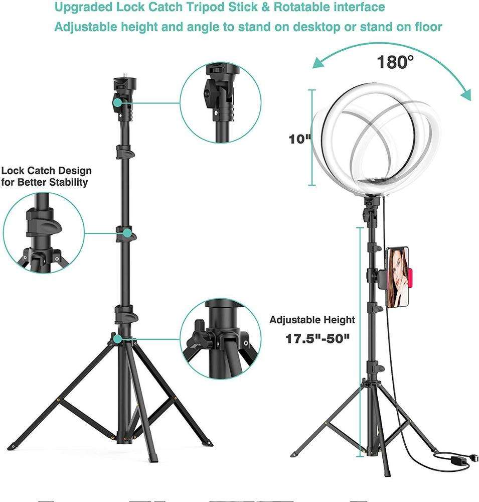 Necessary tool for mobile live broadcasting ring fill light tripod led desktop video live photography fill light USB bracket