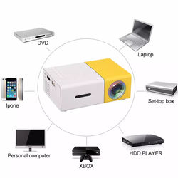 Portable Projector YG300 Mini Digital 4K Home Projector LCD HM USB 800 Lumen Theater Children Education Retail Packaging