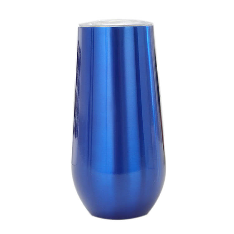 6oz Stainless Steel 304 blue champagne flutes wholesale