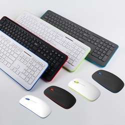 Hot selling slim designed flat key caps 2.4Ghz wireless keyboard and mouse combo for office and home computer use