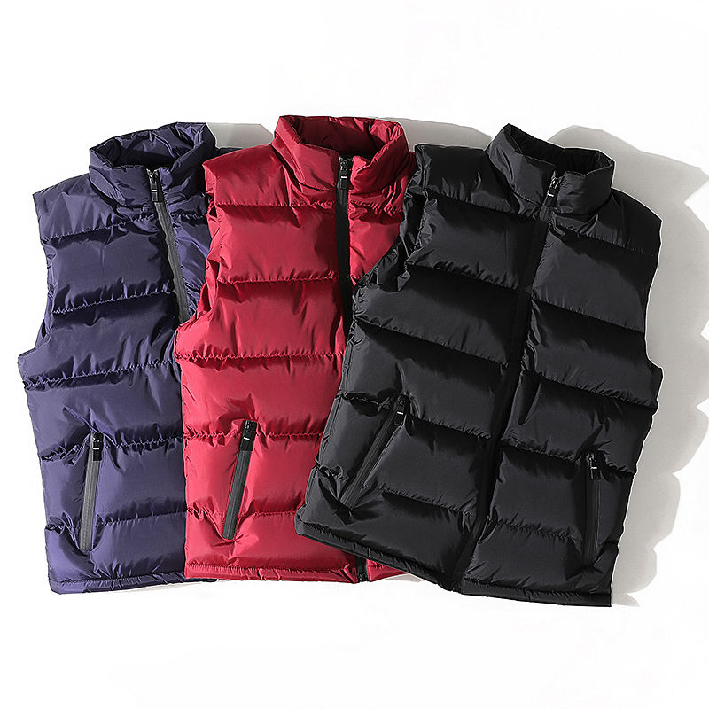 Fashion Classic Warm Men Winter Vest Nylon Padded Vest 100% Polyester Cotton Waistcoat For men