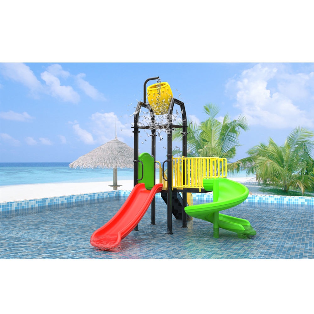 Water Slide Plastic Pool Pour Bucket Water Park Playground