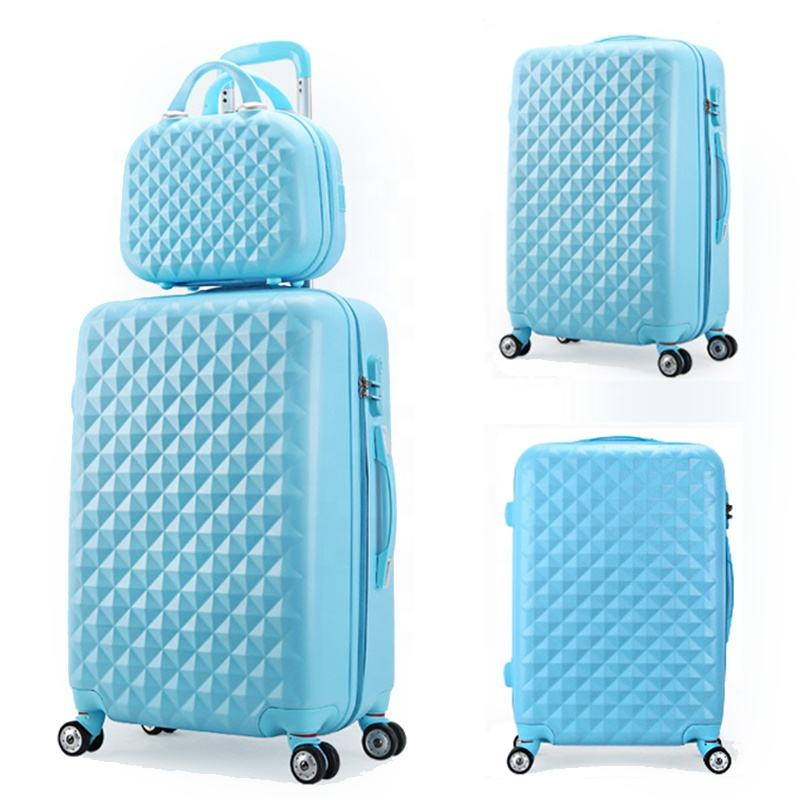 Goedkope Mini Make-Up Tas Lichtgewicht Carryon Trolley Diamant Abs Koffer Bagage