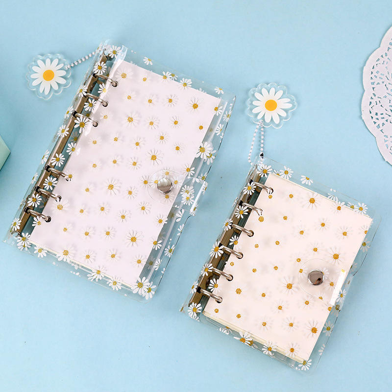 A7 A6 Cute kawaii PVC 6 rings binder Daisy diary journal notebooks stationery supplies