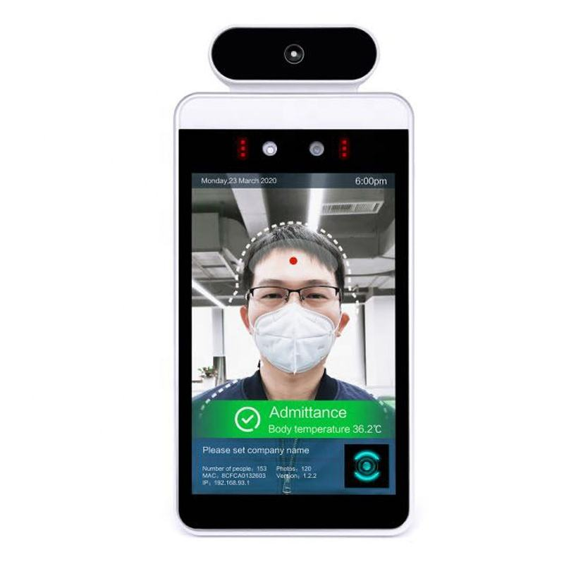 8 inch Smart Face Recognition & face identification Thermometer Body Temperature Detect