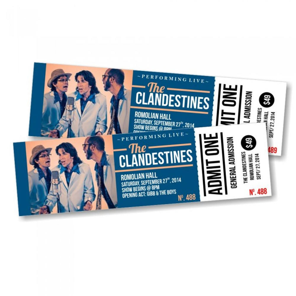 OEM manufacture Concert Travel Exhibition Ticket Printing