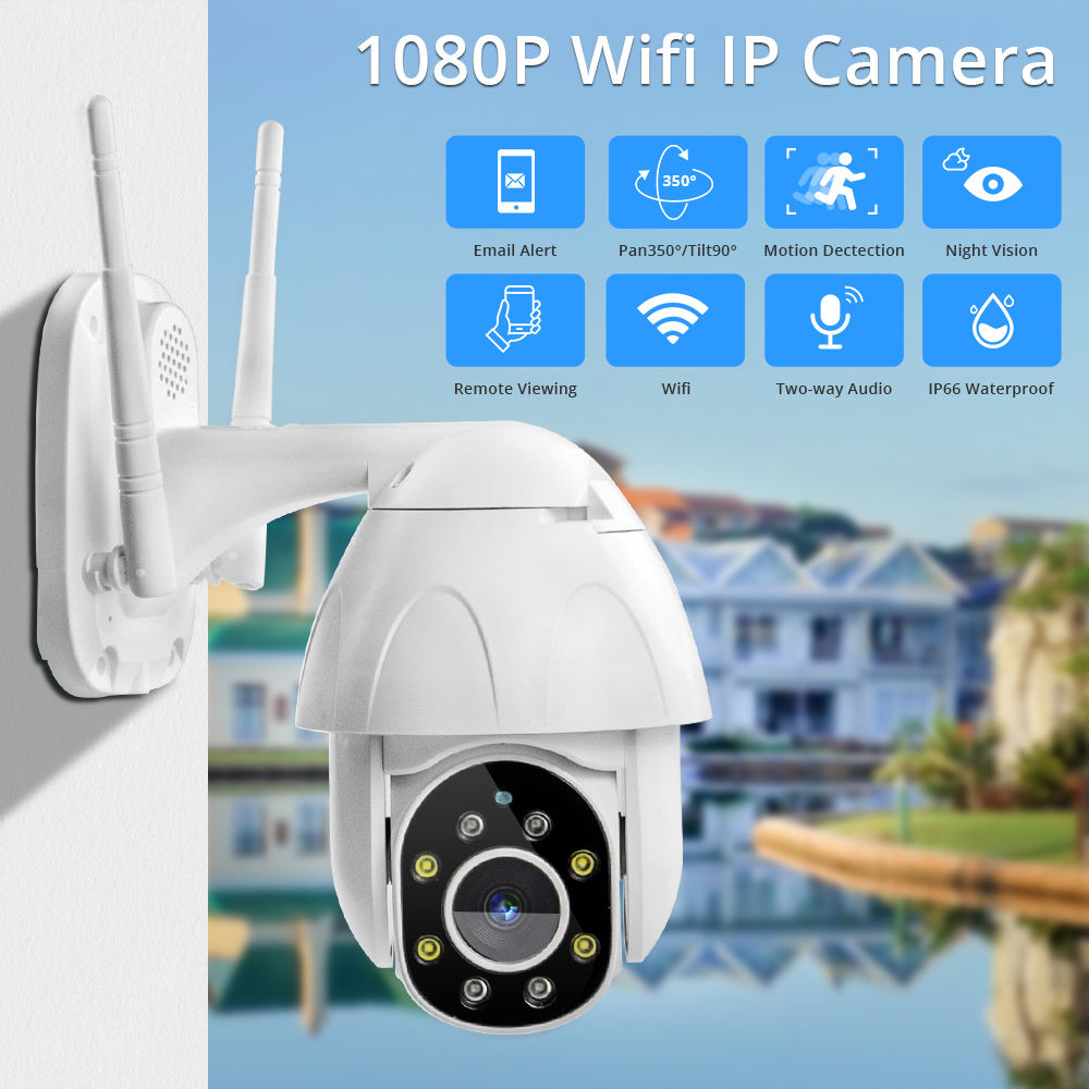 Full Color Outdoor Auto Tracking Wireless Ptz IP Cloud Storage Intelligent Camera
