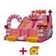 Can be customized size and 0.55mm PVC material sweet candy party theme inflatable slide for girls