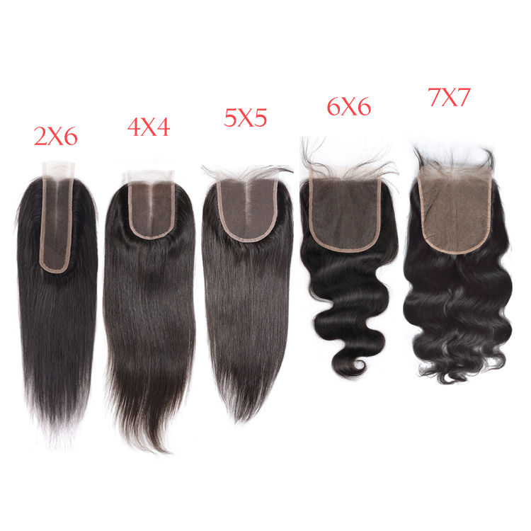 Full Stock 4*4 5*5 6*6 13*6 13*4 Thin Swiss Lace Closure HD Frontals , Transparent Swiss HD Lace Frontal Pre-plucked Human Hair