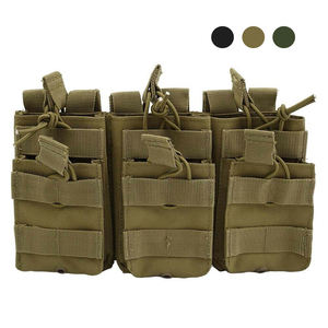 AIRSOFTPEAK Wholesale Magazine Pouch Tactical Molle Triple Open Top Magazine Ammo Military Pouch for AR M4