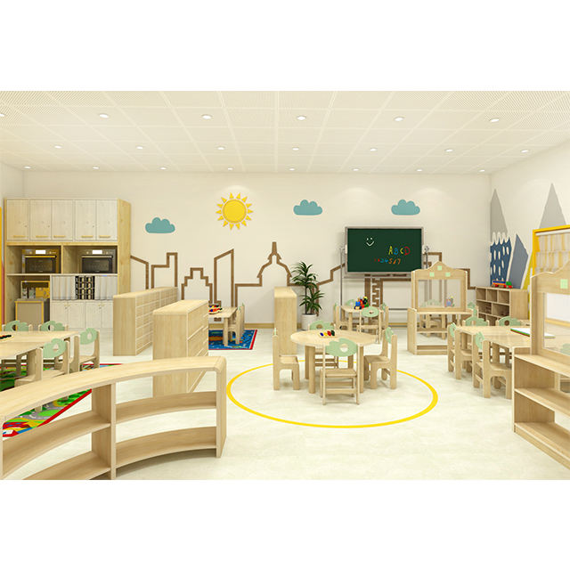 En71 Children Table Chair COWBOY Furniture Wood Kids Table And Chairs For Kindergarten Classroom Children Furniture Set