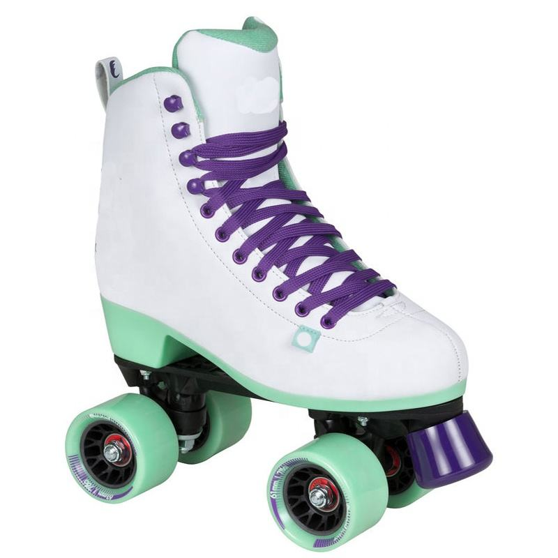 Quad roller skates with PU wheels