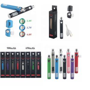 2020 New Preheating Adjust Voltage Micro USB 650 mah/900mah Rechargeable Batteries 510 thread UGO V3 VAPES Pens