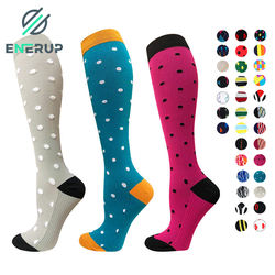 Enerup Chaussettes De Sport Calcetines Sport Colorful Men Women Plantar Fasciitis Compression Nursing Socks 15-20 mmhg