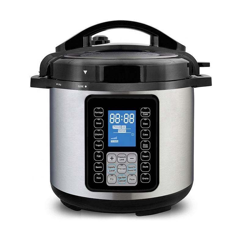 UltraPot 6Q Electric Pressure Cooker 10 in 1 Hot Pot with Tempered Glass Lid