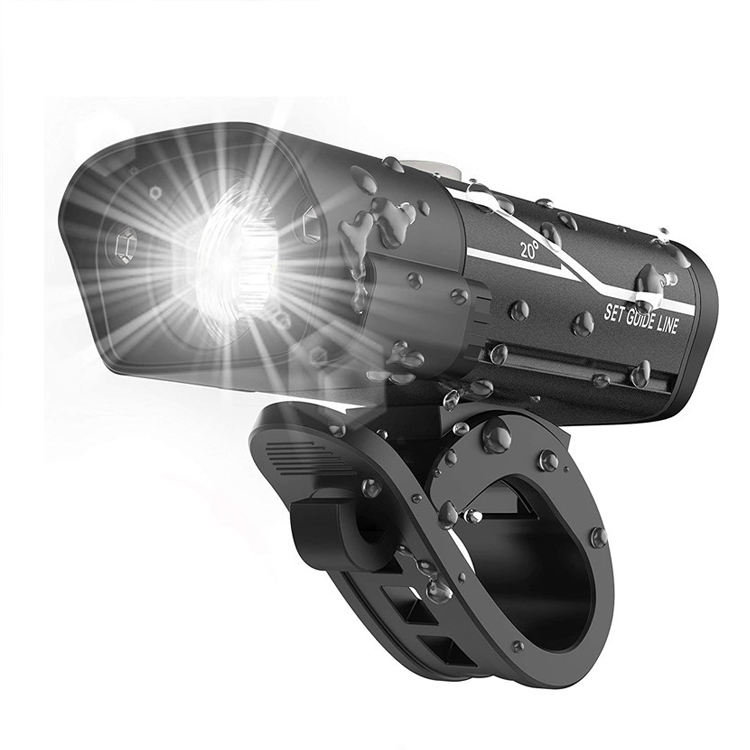 5 Light Mode USB Rechargeable Flashlight Cycling Torch Bike Headlight Lamp 5W XPE LED Front Bicycle Light With Warning Light