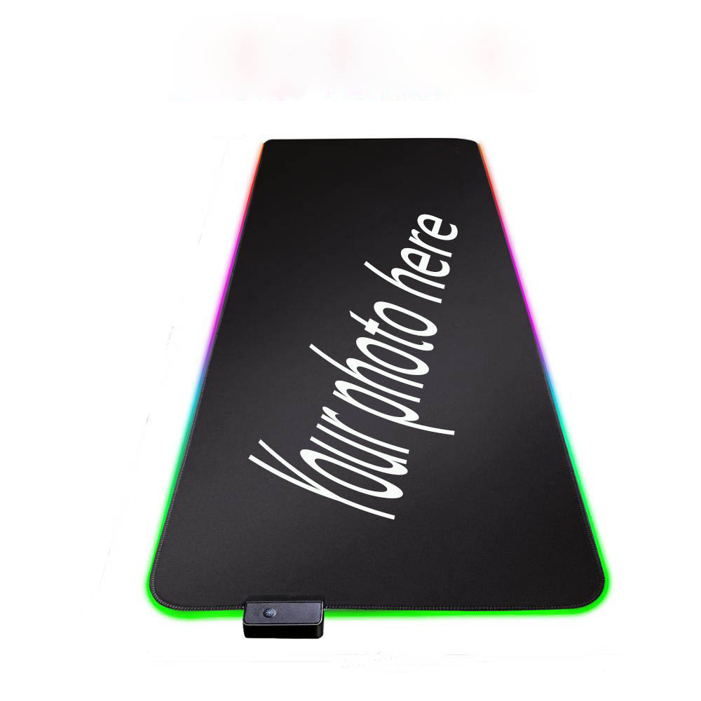 Mairuige Oem 7 Kleuren Diy Play Mat Grote Rgb Muis-Pad Game Accessoires Mousepad Led Light Usb Wired Custom rgb Muis Pads