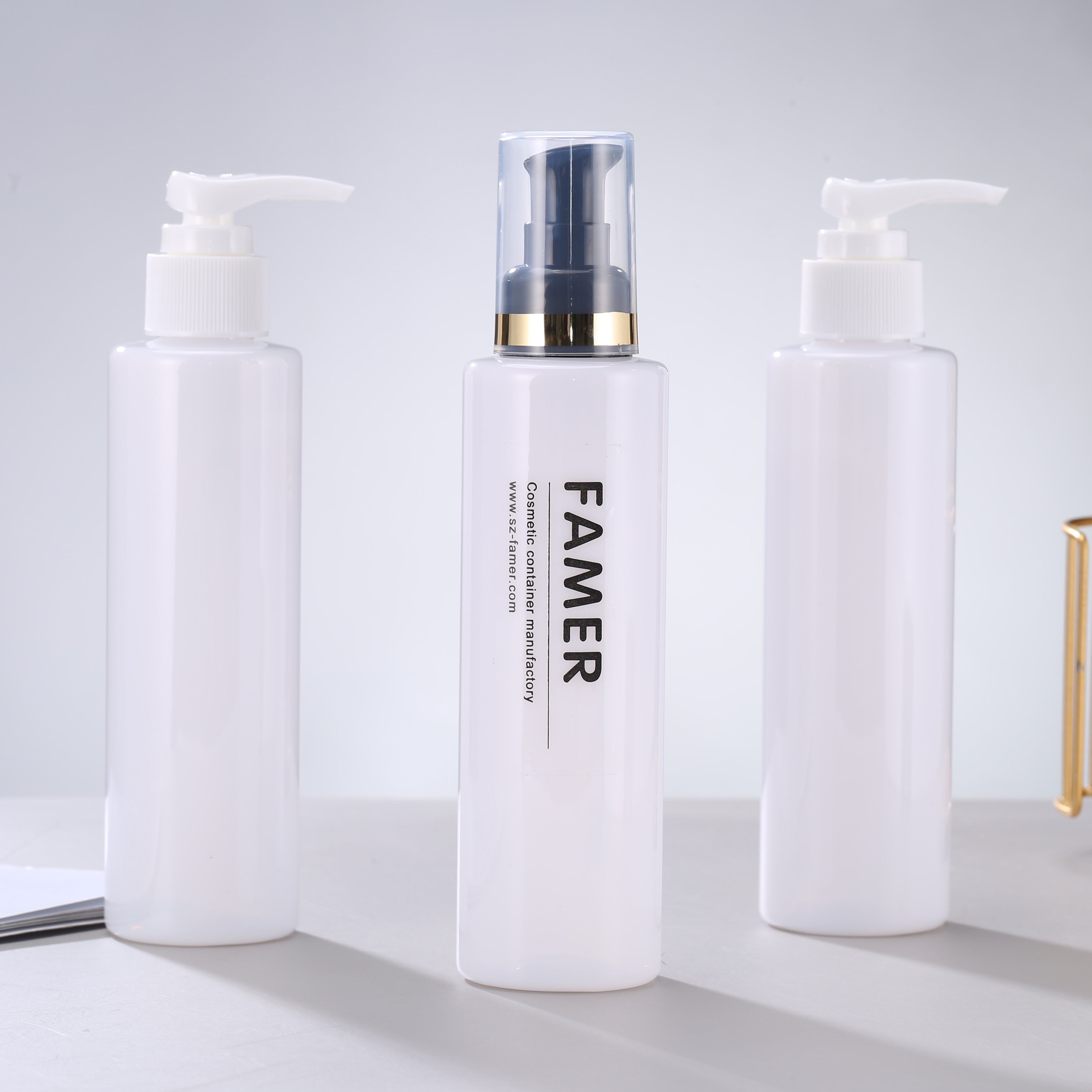 Eco-friendly Plastic PET bottle Lotion pump/spray Thick wall Bottle for cosmetic packaging/ hand soap