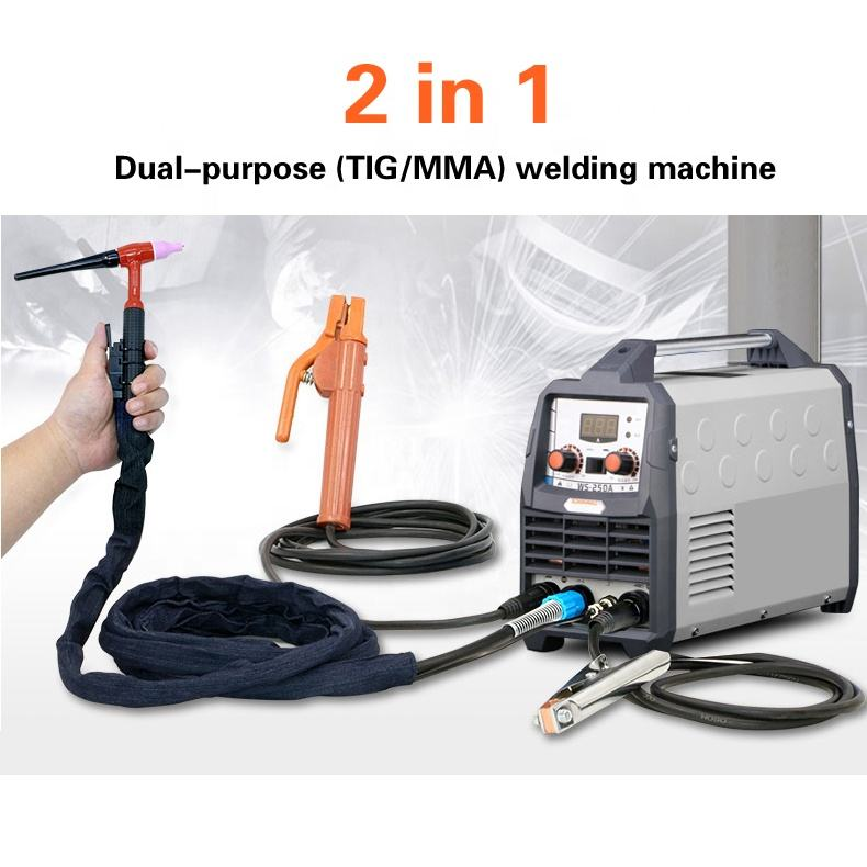 smart portable single phase IGBT inverter TIG-200/250 tig welding machine TIG/MMA argon arc welding machine 2in1 tig