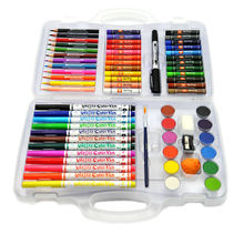 65-piece  stationery set for children, crayons+oil pastel+color pencils marker pens  art sets