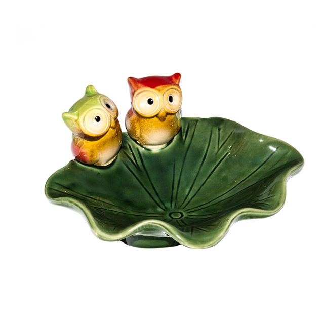 Ceramic Cute Owl Shaped Jewelry Dishes Kids Ceramics Model Bowl With Animal