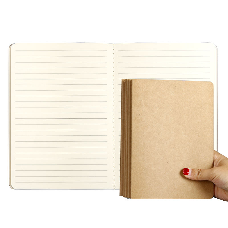 B5 Blank cover kraft paper notebook can be customized book students lovely English book A5 Simple notepad
