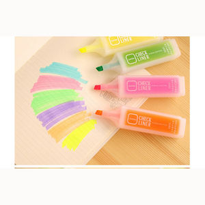 High quality china colorful non toxic normal fluorescent ink highlighter marker pen