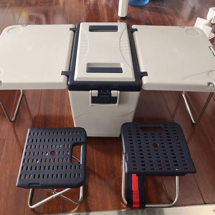 2020 NEW foldable camping table cooler box/ DC12V car use