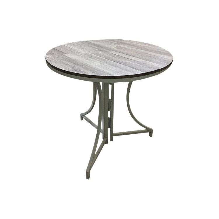 New design quality control innovative round MDF and iron tube folding table