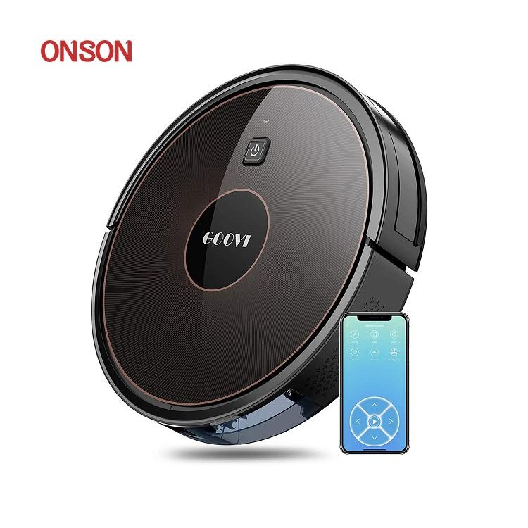 Smart Mini Household Automatic Robotic Sweeper Wifi Rechargeable Robot Vacuum Cleaner for Carpet Floor