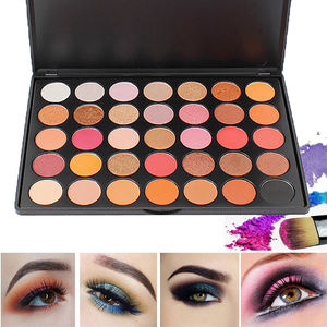 35 Pressed Glitter High Pigment Eye Shadow Stamp Pallets Private Label Shimmer Eyeshadow Palette