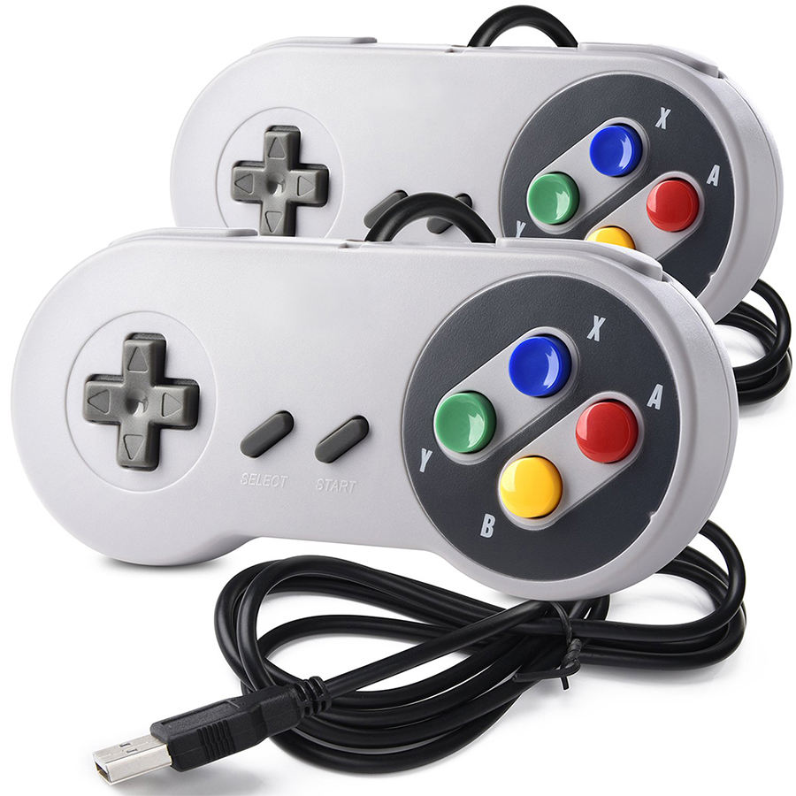 USB Controller Gamepad 2pcs Super Game Controller SNES USB Classic Gamepad Game joystick for raspberry pi