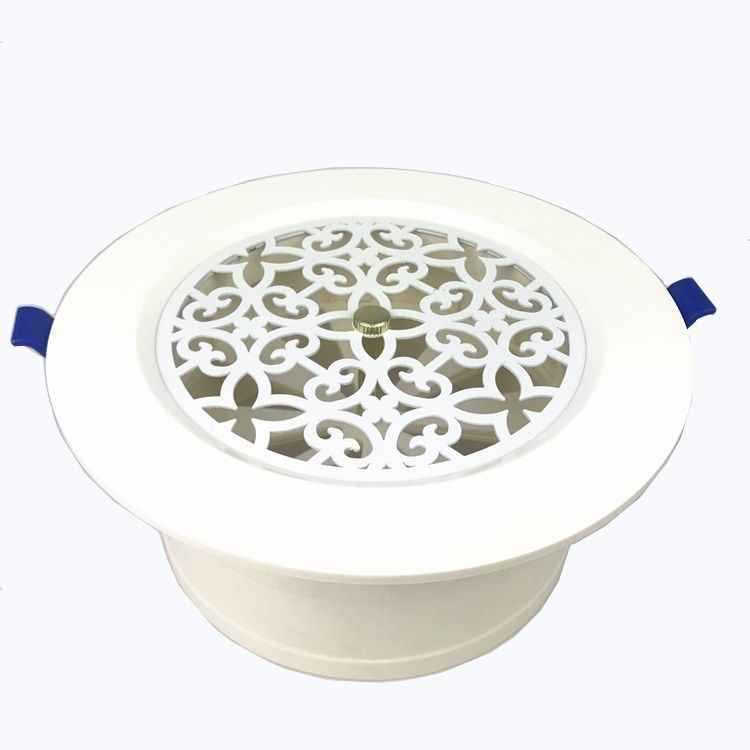 PVC material HVAC plastic dampers ceiling air diffusers round air conditioning ceiling diffusers