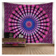 Factory Wholesale Bohemian Style Mandala Wall Hanging Tapestry tapiz de pared 150*130 Boho Rectangular Polyester Woven Tapestry