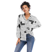 High Quality Comfortable Casual Blouse Printed Long Sleeve Shirts Graphic Custom Women Shirts