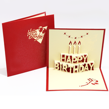 Professional Customization Birthday Popup Greeting Card Paper Carving 3D Card Folded Paper Greeting Card