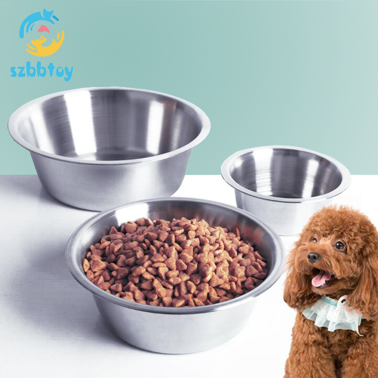 Wholesale Pet Food Water Bowl Stainless Steel Metal Dog Bowl
