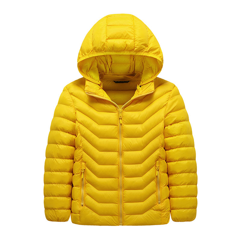 Kids clothing fall winter 2019 solid color simple warm down jacket