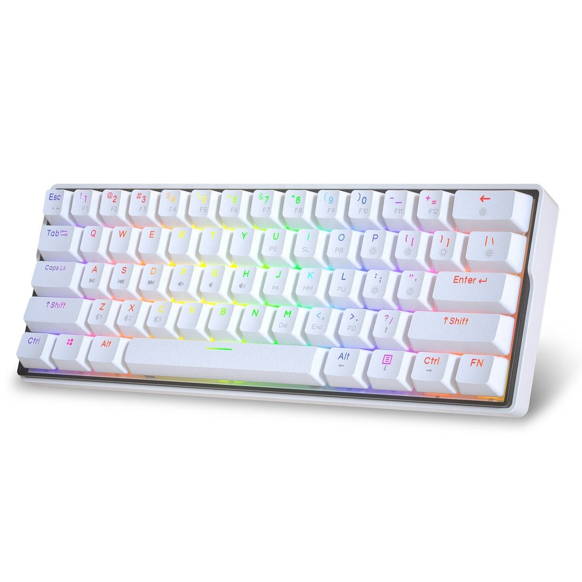 Hot sell KEMOVE DK61 Snowfox Bluetooth5.1 60% Gaming mechanical Keyboard for PC/Android/IOS