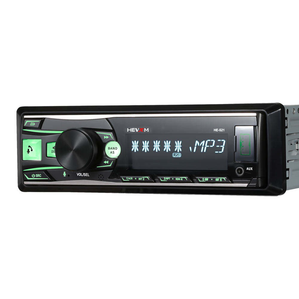 1DIN 12V In-Dash Car Stereo Radio Controle Remoto Voz Painel Removível Bluetooth Autoradio FM USB AUX-IN MP3 player multimídia