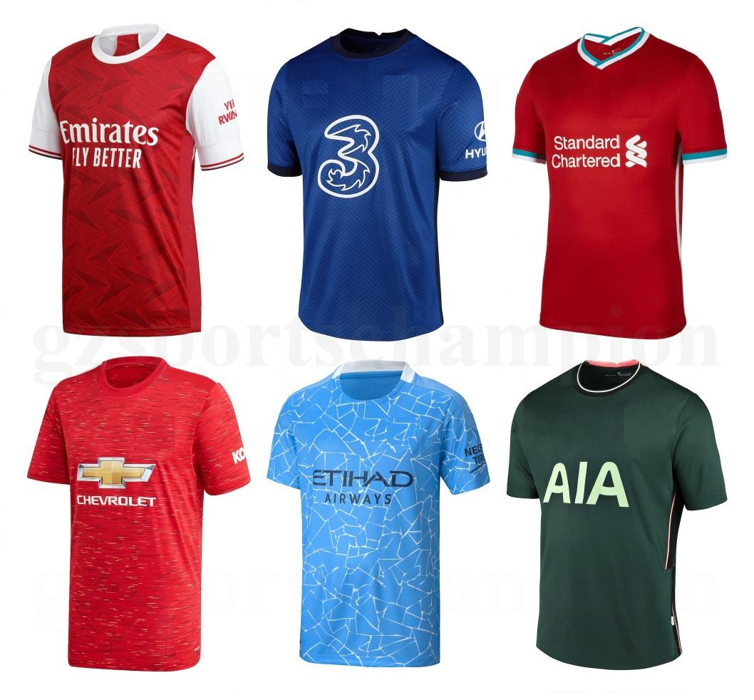 Sportswear Man Soccer Wear Blank Soccer Jerseys Wholesale Real City Thai Quality Soccer Shirt Football Shirt