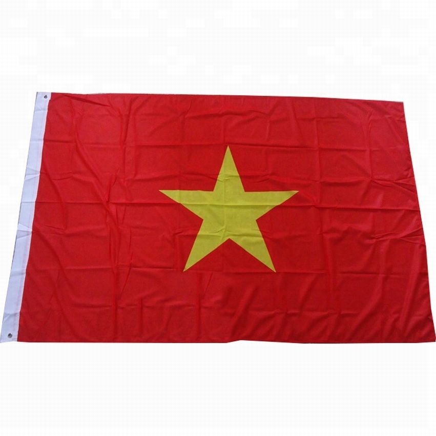 wholesale free sample digital printing Vietnam flags polyester no MOQ country flag promotional custom flag