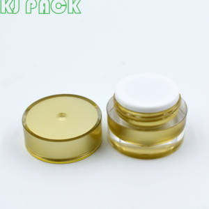 Factory supply Round Luxury Plastic Nail Gel Cosmetic Container Empty jar 5g 10g uv gel pot