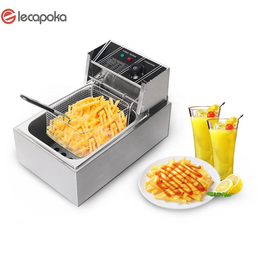 stainless single tank 220V 6L counter top electric commercial deep fryer deep fryer electric deep fryer commercial